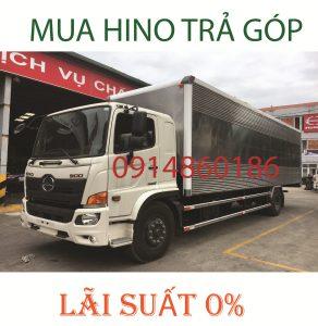 Mua xe Hino trả góp lãi suất 0%